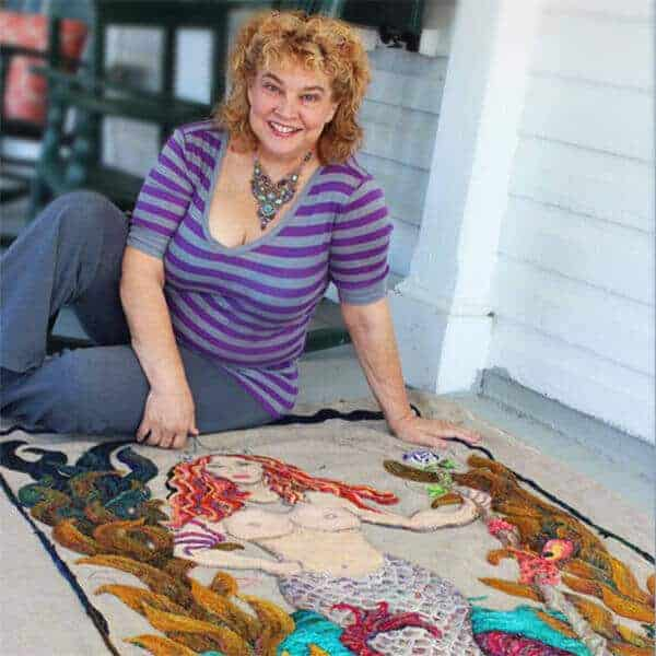 Michele Micarelli rug hooking workshops