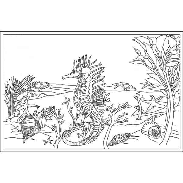 Seahorse Garden Rug Hooking Pattern