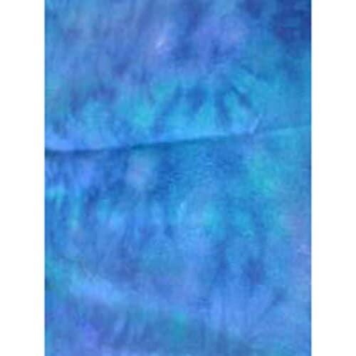 Saphire Blue Three Spot Rug Hand Dyed Rug Hooking Dorr Wool