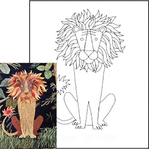 Michele Micarelli Lion Rug Hooking Pattern Example