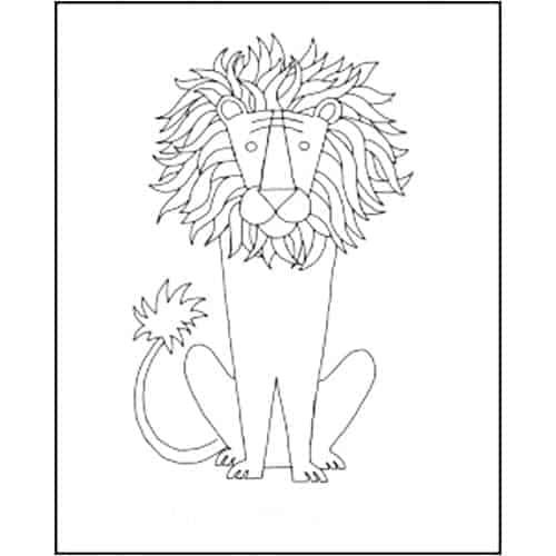 Michele Micarelli Lion Rug Hooking Pattern