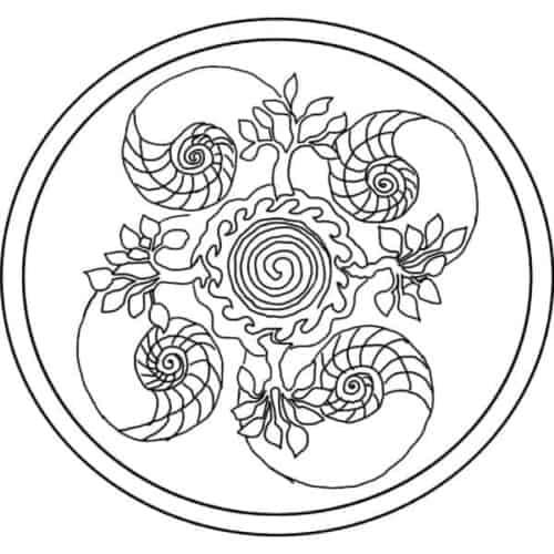 Michele Micarelli Ocean Mandala Rug Hooking Pattern