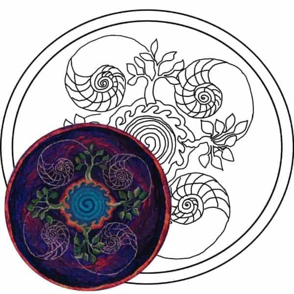 Michele Micarelli Ocean Mandala Rug Hooking Pattern Example