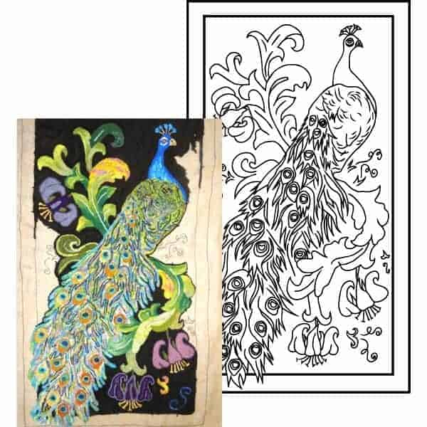 michele micarelli hand drawn rug hooking patterns