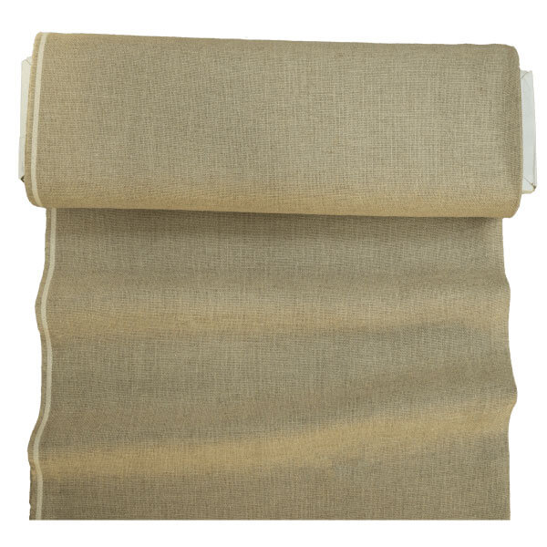 Natural, unbleached, hairless, linen backing for rug hooking